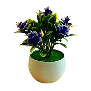 adonpshy Artificial Plant Pot Daffodil Pattern Simulated Flower Plastic Garden Yard Fake Potted Plant for Home Artifical Flowers for Outdoors Purple Orchid