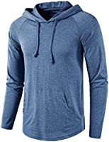SIR7 Men's Gym Workout Active Long/Short Sleeve Pullover Lightweight Hoodie Casual Hooded Sweatshirts