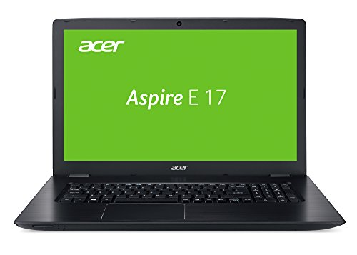 Acer Aspire E 17 (E5-774G-540F) 43,9 cm (17,3 Zoll HD+) Laptop (Intel Core i5-7200U, 8GB RAM, 128GB SSD + 1.000GB HDD, GeForce 940MX, Win 10 Home) schwarz