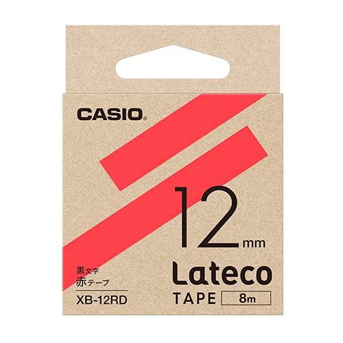 エスコ(ESCO) 12mm テープカートリッジ 赤に黒文字 EA761DR-524