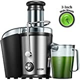 Juicer Machine with 3''Wide Mouth, Aicok Juice Extractor Easy to Clean, 800W Dual Speed Centrifugal Juicer for Fruits & Vegetables, Stainless Steel Juicer with Anti-drip Mouth, Non-slip feet, BPA Free
