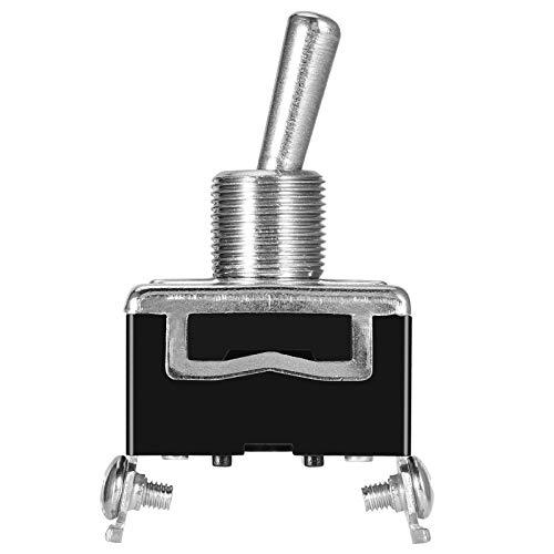 Censhaorme Heavy Duty Interruptor de Palanca de la Cubierta Impermeable 12V ON/Off rociada del Coche de luz de 12 voltios SPST Metal Interruptor Set of 5pcs