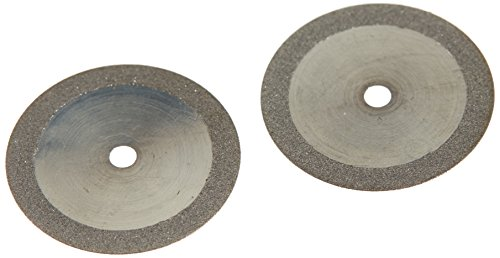 VAL-Lab D911H-160(355.514.160)/UM Diamond Disks, Premium Quality, Super Flex, Double Sided/UnMounted, Size 16 mm, Thickness 0.17 mm, 50 μm, Medium Grit (Pack of 2)