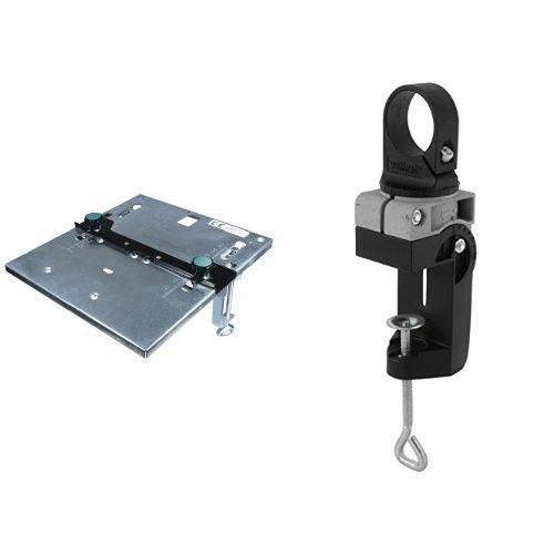 Wolfcraft - Mesa Sierra Calar 6197000 + 4800000 - Soporte combinado metálico para taladradoras diámetro de 43 mm