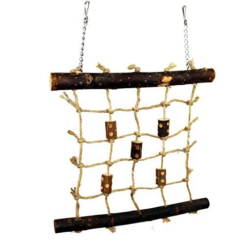 Pet Ting Natural Living Seil Kletterwand 27 x 24 cm – Vogelspielzeug, Wand, Holz, Finken, Kanarienvögel, Wellensittiche etc.