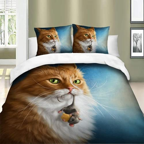 ZJJIAM Bed Linen, Duvet Cover and Pillowcase, Animal Motif, Dog, Pink, Duvet Cover and Pillowcase, Suitable for Teenagers (6.220 x 240 cm + 2 x 80 cm x 80 cm)