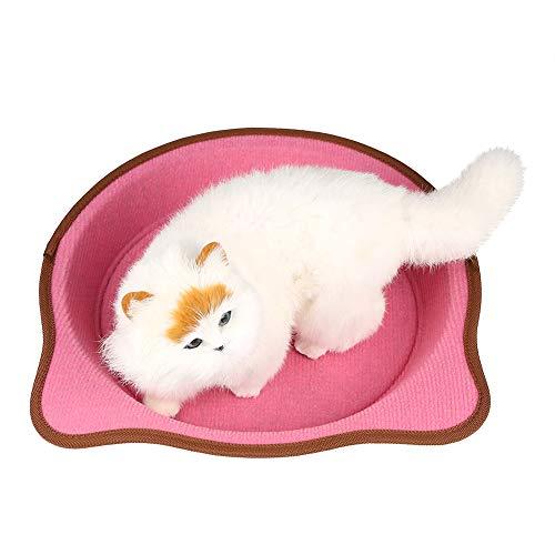 Zacht pluche huisdier bed, klauw lade schattig speelgoed speelhuis (roze)