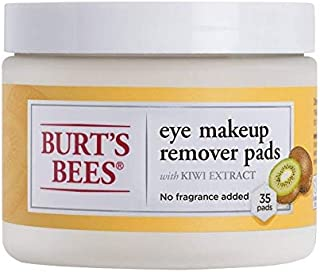 Burts Bees Eye Makeup Remover Pads, 2 Tubs of 35 Pads