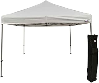 Impact Canopy 10 x 10 Pop Up Canopy Tent, Straight Leg Shelter, Steel Frame, Roller Bag, White