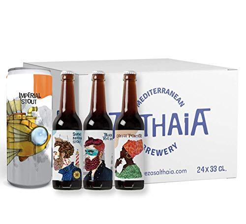 Pack Selección Cerveza Negra - Caja 24 unidades - Cervezas Althaia - Cerveza artesana - Premiadas Internacionalmente. Botella 33cl. Craft beer