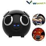 Winnes Altavoz Bluetooth multifunción, altavoz Bluetooth con dibujos animados de cerdo portátil subwoofer Bluetooth altavoz para niños regalo (negro)