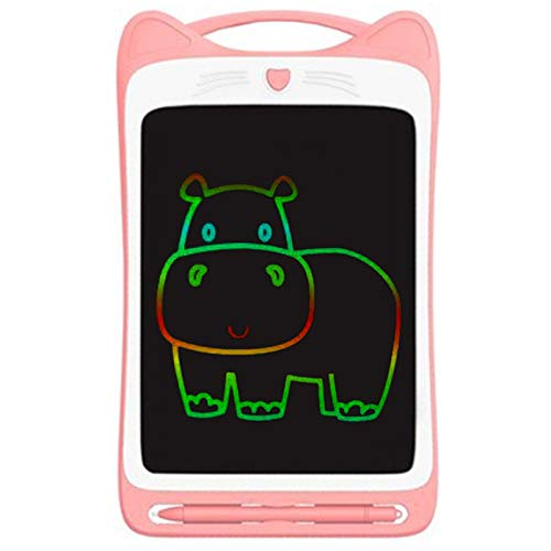 Hrsptudorc 12 Zoll Bunte Kleinkind Zeichnung Doodle Board Kinder Scribbler Board L?Schbare Schreib Tafel LCD Zeichen Bl?Tter Rosa