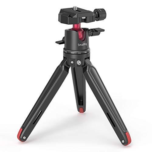 SmallRig ミニ三脚 一眼レフカメラ三脚 コンパクト アルカスイス自由雲台付き三脚 アルミ製- 2664