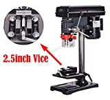 SwitZer Pillar Press Drill Bench Top Table Stand 500W 16mm 9 Speed 230V Power Workbench Tool with Vice PD02 Grey