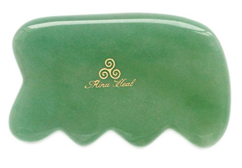 Massage Tool Made of Jade Stone, for Face Lifting, Anti-aging, Anti-wrinkles, Gua Sha Treatment