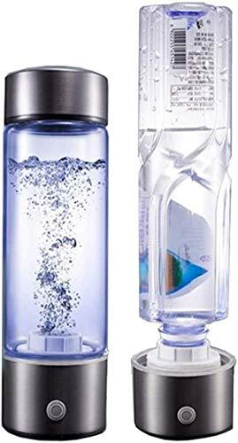 Wasserstoffreiche Flasche Tragbarer Wassergenerator SPE-Technologie Ionisator-Modus 5 Minuten Hochkonzentrierte Ozon- und Chlorabgabe -430 ml, für Sport, Camping,