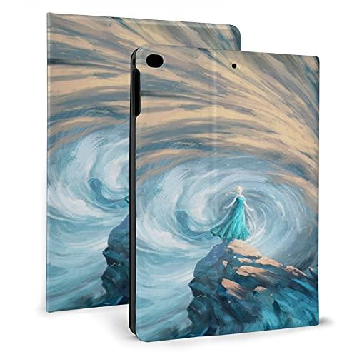 Funda para iPad Air 1/2, Magic Snow Fro-Zen El-Sa Funda protectora de cuero, Tablet Ipad 2017/2018 Carcasas 9.7 pulgadas
