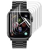 Hianjoo Schutzfolie Kompatibel für Apple Watch 40mm Series 6/5/4/SE, Klar HD Weich Folie, Vollständige Abdeckung Anti-Kratz Bildschirmschutzfolie Kompatibel für iWatch 40mm Series 6/5/4/SE [6 Stück]