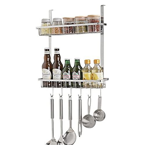 Espositori Spice Rack -Kitchen Organizer Rack, acciaio inossidabile, non sbiadisce, a prova di umidità, forniture per cucina Ripiano di stoccaggio, conservatore di pepe Organizzatore di archiviazione