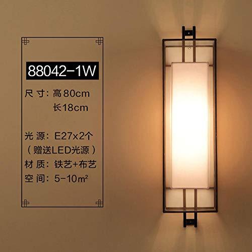 NZJSY Moderne Stijl Wandlamp buitenverlichting wandlampen voor het leven (Lamp niet inbegrepen) Nieuwe Chinese wandlamp TV achtergrond muur woonkamer slaapkamer nachtlampje Zen retro gangpad Chinese stijl lampen