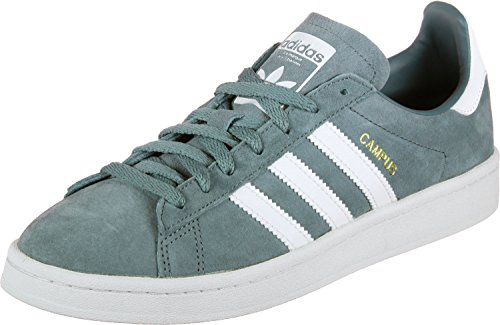 adidas Campus, Zapatillas de Gimnasia Hombre, Verde (Raw Green/Footwear White/Crystal White 0), 45 1/3 EU