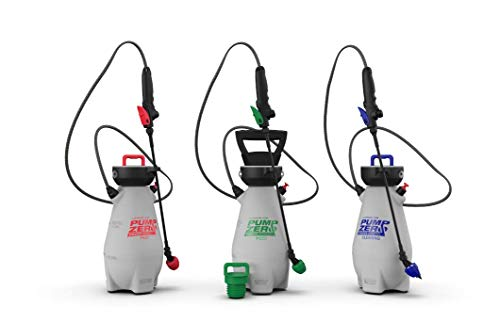 Pump Zero | 190599 | Garden Sprayer Pump | 3 Pack | Lawn & Garden | 24 Gallons Per Charge | Multi-Purpose Pressure Sprayer | 16-20 PSI