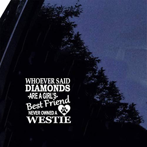 Westie Diamonds Sticker Aufkleber Rettungshund West Highland White Terrier