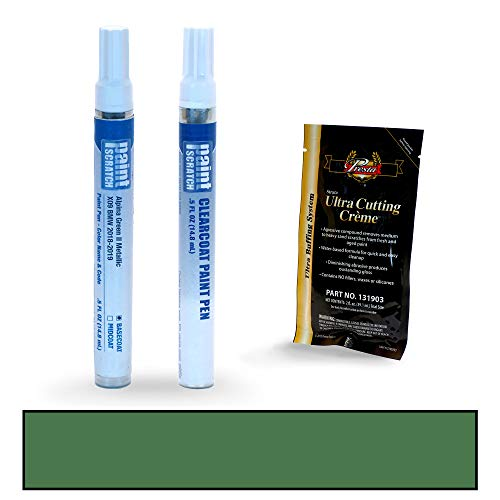 PAINTSCRATCH Touch Up Paint Pen Car Scratch Repair Kit - Compatible with BMW 7 Series Alpina Green II Metallic (Color Code: X09)