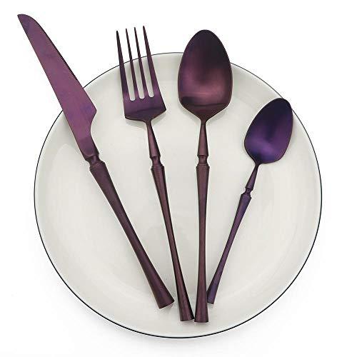 Yywl - Juego de cubiertos de acero inoxidable con espejo, pulido, vajilla, cuchillo, tenedor, boda, cocina, accesorios