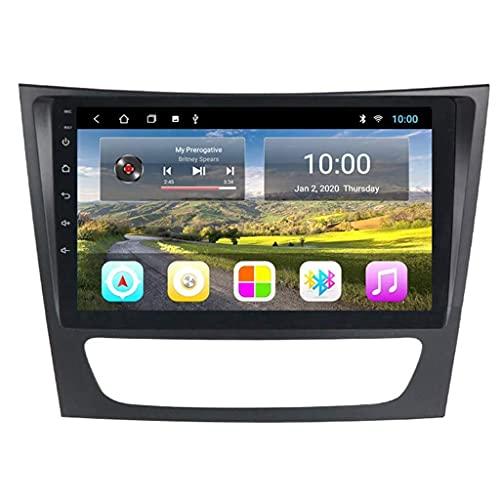 ZHANGYY Nav Autoradio GPS Unidad Principal de 9 Pulgadas Navegación Android 2 DIN Bluetooth Reproducir DVD - Aplicable Compatible con Mercedes Benz E W211 2005-2010, Radio de Coche Estéreo Dab