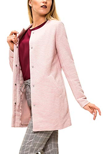 ONLY Damen Übergangsmantel Kurzmantel Leichte Jacke Chic Business Coat (S, Rose Smoke/Melange)