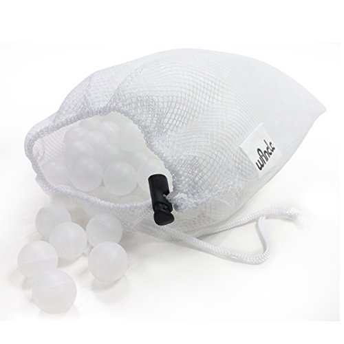 Sous Vide Cooking Water Balls 250 Count with Mesh Drying Bag, Minimum Heat Loss & Water Evaporation, BPA Free, for Sous Vide Cooker and Immersion Circulator (250, White Balls)