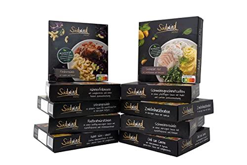 Probierpaket für den Lebensmittelvorrat - verschiedene Fertiggerichte für die Mikrowelle / Wasserbad - keine Versandkosten - Südwind Lebensmittel