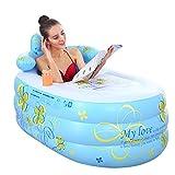 CNSFFS Tubble Aufblasbare Badewanne Erwachsene GrößE Portable Home Spa, Baby Early Education Schwimmbad, Komfortable Bad, QualitäT Wanne (Farbe: Blau)