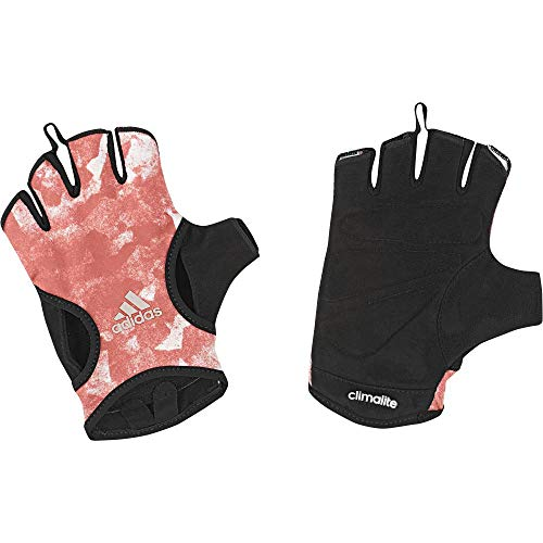 adidas Damen Graph Handschuhe, Trace Scarlet/Black/Vapour Grey Metallic, L