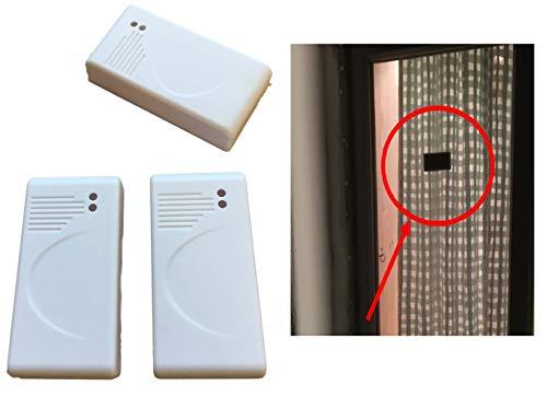 3x Glasbruch Sensoren ATTRAPPE – Fenster/Vibrationssensor SELBSTKLEBEND zum Abschrecken von Einbre