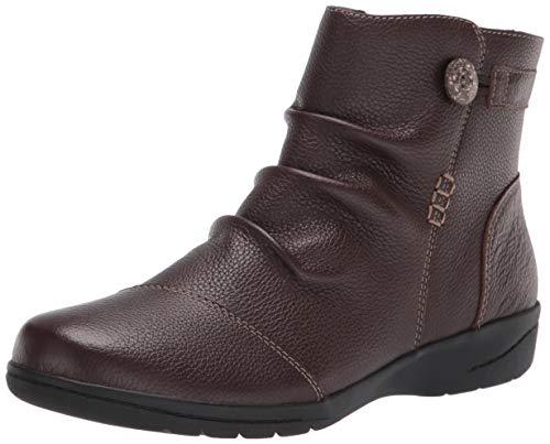 Clarks Women's Cheyn Zoe Ankle Boot, Dark Brown Leather, 10W