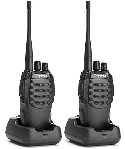 Walkie Talkie Two Way Radio-Olywiz Handheld FM Transceiver 5 Miles Rang 1800mAH Li-ion Battery 16CH USB Charger with FM Radio TOT Scan Function 2PCS for Field Survival Climbing and More