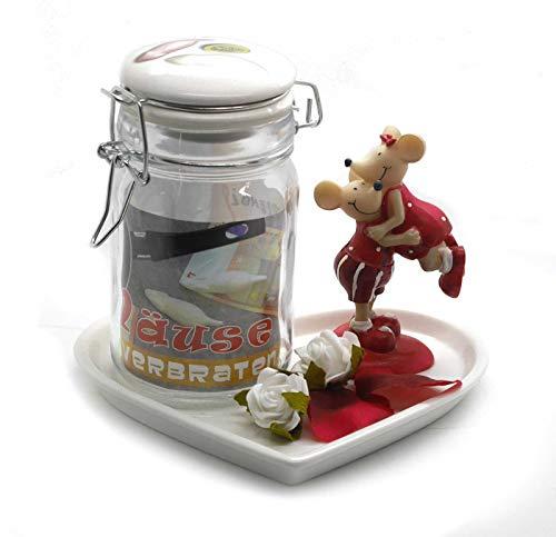 originelles Geldgeschenk SET zur Hochzeit Mäuse zum Verbraten auf Herzteller