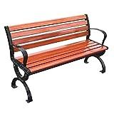 STEPPE Outdoor Garden Bench, Patio Chairs Todo Clima De 2 Asientos, Banco De Jardin 47,2 Pulgadas (Profundidad) / 51,9 Pulgadas (Profundidad) Rojo Ámbar