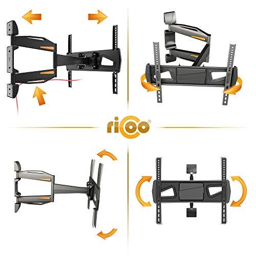 RICOO Fernsehhalterung S0944 Wandhalterung TV Schwenkbar Neigbar Halterung Wandhalter LED LCD Flachbild-Fernseher 76-140cm/30-42-50-55 Zoll - 2