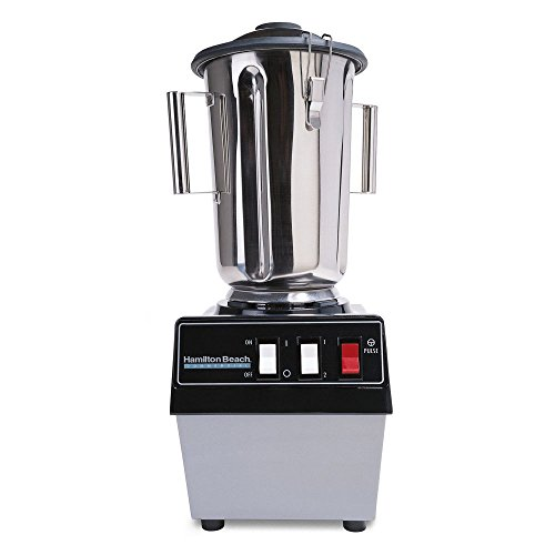 Hamilton Beach Commercial 990 Food Blender-1 gal/ 3.8 L, Stainless Container, 2 Speeds, Pulse, 20.08' H, 10.24' W, 11.22' L, Black