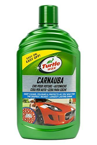 Turtle Wax 52857 Carnauba per Auto, Cera Protettiva per Eliminare Graffi, 500 ml