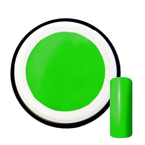 Gel UV de couleur vert fluo, #5, 5 ml - fabriqué en Allemagne