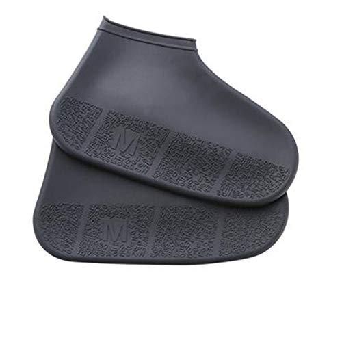 Waterdichte schoenen regenjas anti-slip Herbruikbare Silicone Inlegzolen Shoe Boots Slippery Outdoor Camping Wandelschoenen Cover,Black,S