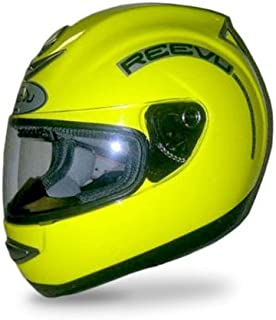 Reevu MSX1 Rear-View Motorcycle Helmet - High Visibility Yellow- S