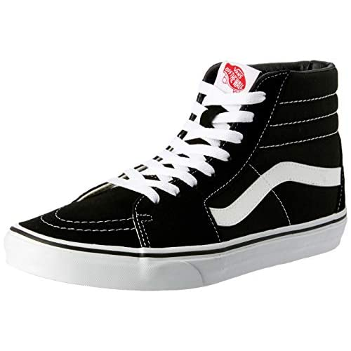 Vans Sk8-Hi, Sneakers Alti Unisex Adulto, Nero (Black/White), 41 EU