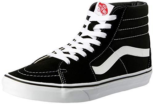 Vans Sk8-Hi, Sneakers Alti Unisex Adulto, Nero (Black/White), 43 EU