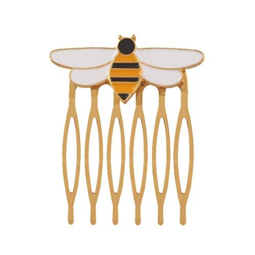 Amosfun peigne pour cheveux épingle à cheveux or abeille à miel barrette en métal accessoires pour cheveux décorations capillaires pour filles femme