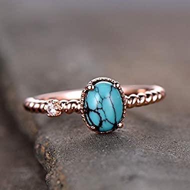 Turquoise Ring Turquoise Engagement Ring Vintage...